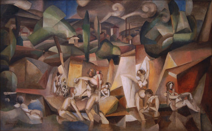 "Albert Gleizes Painting ""LesBaigneuses"" 1912, [Public Domain]"